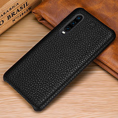 Custodia Lusso Pelle Cover P01 per Huawei P30 Nero