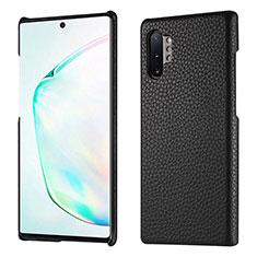 Custodia Lusso Pelle Cover P01 per Samsung Galaxy Note 10 Plus 5G Nero