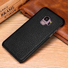 Custodia Lusso Pelle Cover P01 per Samsung Galaxy S9 Nero