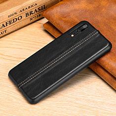 Custodia Lusso Pelle Cover P02 per Huawei P20 Nero