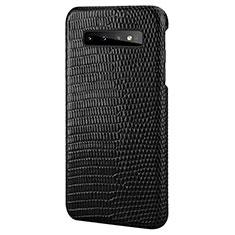 Custodia Lusso Pelle Cover P02 per Samsung Galaxy S10 Plus Nero