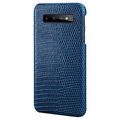 Custodia Lusso Pelle Cover P02 per Samsung Galaxy S10e Blu