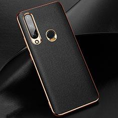 Custodia Lusso Pelle Cover per Huawei Enjoy 10 Plus Nero
