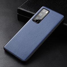 Custodia Lusso Pelle Cover per Huawei Enjoy 20 Pro 5G Blu