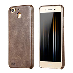 Custodia Lusso Pelle Cover per Huawei Enjoy 5S Marrone
