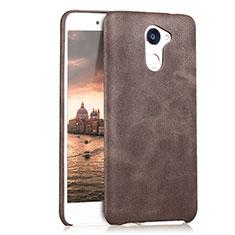 Custodia Lusso Pelle Cover per Huawei Enjoy 7 Plus Marrone