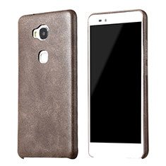 Custodia Lusso Pelle Cover per Huawei Honor 5X Marrone