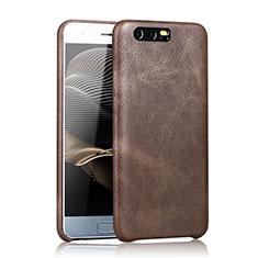 Custodia Lusso Pelle Cover per Huawei Honor 9 Premium Marrone