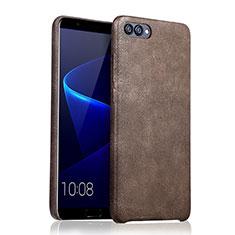 Custodia Lusso Pelle Cover per Huawei Honor V10 Marrone