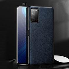 Custodia Lusso Pelle Cover per Huawei Honor X10 5G Blu