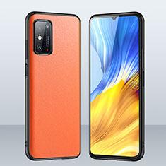 Custodia Lusso Pelle Cover per Huawei Honor X10 Max 5G Arancione