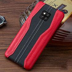 Custodia Lusso Pelle Cover per Huawei Mate 20 RS Rosso