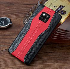 Custodia Lusso Pelle Cover per Huawei Mate 20 RS Rosso e Nero