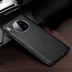 Custodia Lusso Pelle Cover per Huawei Mate 30 5G Nero