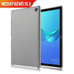 Custodia Lusso Pelle Cover per Huawei MediaPad M5 10.8 Grigio