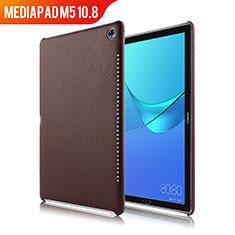 Custodia Lusso Pelle Cover per Huawei MediaPad M5 10.8 Marrone
