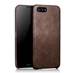 Custodia Lusso Pelle Cover per Huawei Nova 2S Marrone