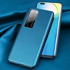 Custodia Lusso Pelle Cover per Huawei Nova 7 Pro 5G Blu