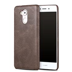 Custodia Lusso Pelle Cover per Huawei Nova Smart Marrone