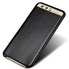 Custodia Lusso Pelle Cover per Huawei P10 Plus Nero