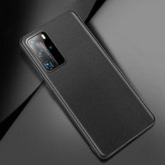 Custodia Lusso Pelle Cover per Huawei P40 Pro Nero