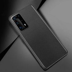 Custodia Lusso Pelle Cover per Huawei P40 Pro+ Plus Nero