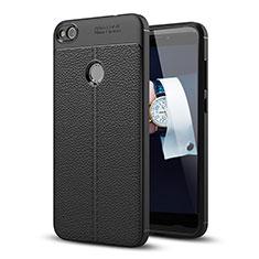Custodia Lusso Pelle Cover per Huawei P8 Lite (2017) Nero