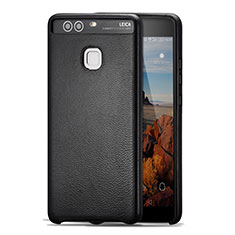 Custodia Lusso Pelle Cover per Huawei P9 Plus Nero