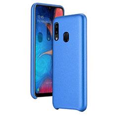 Custodia Lusso Pelle Cover per Samsung Galaxy A20e Blu