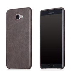 Custodia Lusso Pelle Cover per Samsung Galaxy A8 (2016) A8100 A810F Marrone