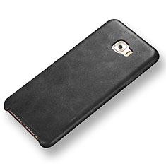 Custodia Lusso Pelle Cover per Samsung Galaxy C7 Pro C7010 Nero