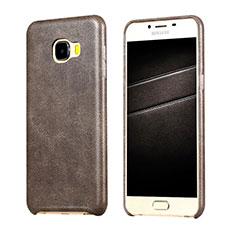 Custodia Lusso Pelle Cover per Samsung Galaxy C7 SM-C7000 Marrone