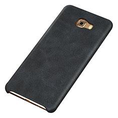 Custodia Lusso Pelle Cover per Samsung Galaxy C9 Pro C9000 Nero
