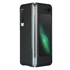 Custodia Lusso Pelle Cover per Samsung Galaxy Fold Nero