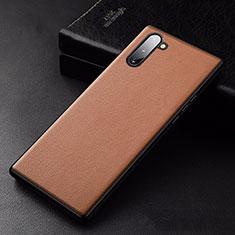 Custodia Lusso Pelle Cover per Samsung Galaxy Note 10 5G Arancione