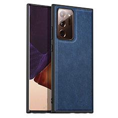 Custodia Lusso Pelle Cover per Samsung Galaxy Note 20 Ultra 5G Blu