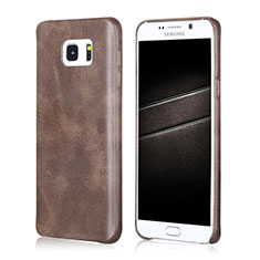 Custodia Lusso Pelle Cover per Samsung Galaxy Note 5 N9200 N920 N920F Marrone