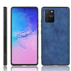 Custodia Lusso Pelle Cover per Samsung Galaxy S10 Lite Blu