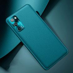 Custodia Lusso Pelle Cover per Samsung Galaxy S20 FE 5G Ciano