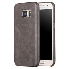 Custodia Lusso Pelle Cover per Samsung Galaxy S7 G930F G930FD Marrone