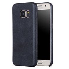 Custodia Lusso Pelle Cover per Samsung Galaxy S7 G930F G930FD Nero