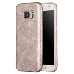 Custodia Lusso Pelle Cover per Samsung Galaxy S7 G930F G930FD Oro