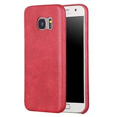 Custodia Lusso Pelle Cover per Samsung Galaxy S7 G930F G930FD Rosso