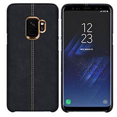 Custodia Lusso Pelle Cover per Samsung Galaxy S9 Nero