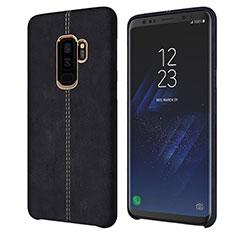 Custodia Lusso Pelle Cover per Samsung Galaxy S9 Plus Nero