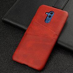 Custodia Lusso Pelle Cover R01 per Huawei Mate 20 Lite Rosso