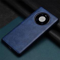 Custodia Lusso Pelle Cover R01 per Huawei Mate 40 Blu