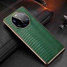Custodia Lusso Pelle Cover R01 per Huawei Mate 40 RS Verde