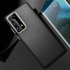Custodia Lusso Pelle Cover R01 per Huawei P40 Pro+ Plus Nero