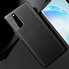 Custodia Lusso Pelle Cover R01 per Samsung Galaxy S20 5G Nero